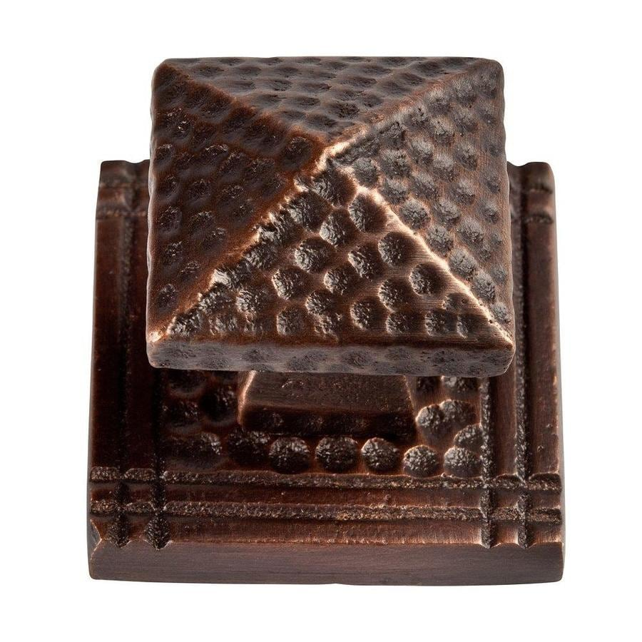 The Copper Factory Antique Copper Square Cabinet Backplate