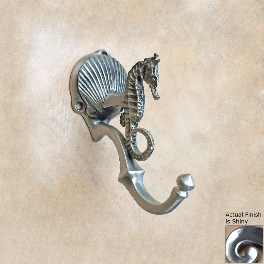 D'Artefax Tropical Sea Horse 1-Hook Shiny Towel Hook