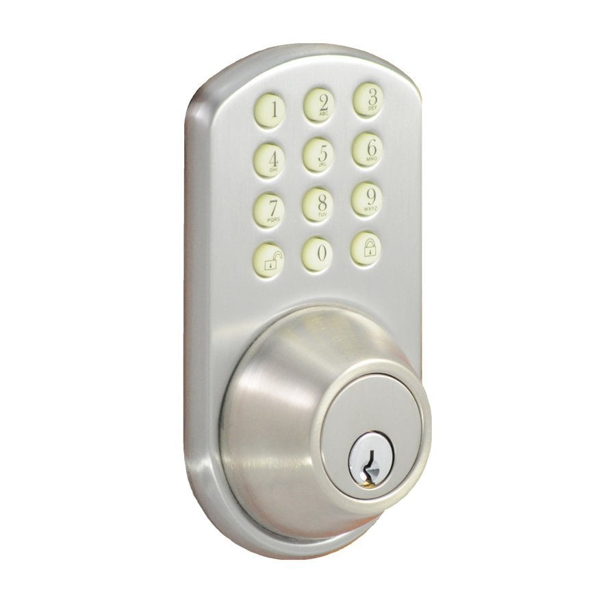 Morning Industry H-Series Satin Nickel-Cylinder Electronic Entry Door Deadbolt with Keypad