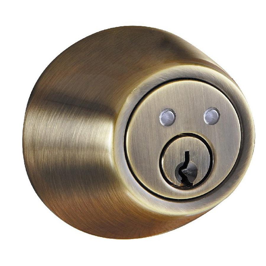 Morning Industry R-Series Antique Brass-Cylinder Electronic Entry Door Deadbolt