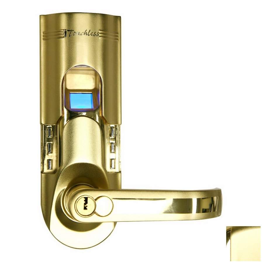 shop itouchless gold electronic entry door deadbolt with keypad at. Black Bedroom Furniture Sets. Home Design Ideas
