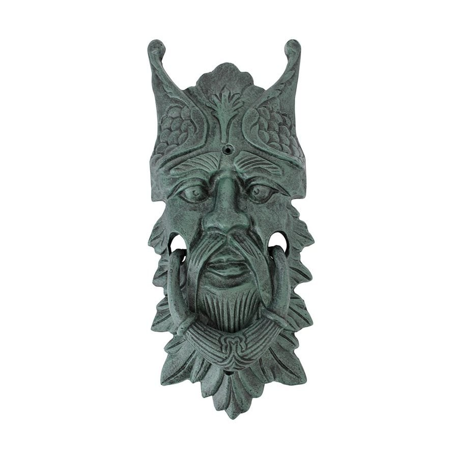 Design Toscano Castle Gladstone Greenman 13.5-in Verdeigris Entry Door Knocker