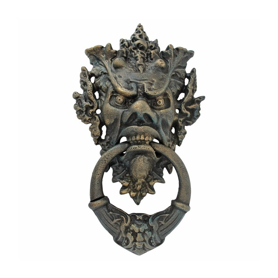 Shop design toscano vecchio greenman 15 in entry door knocker at - Greenman door knocker ...