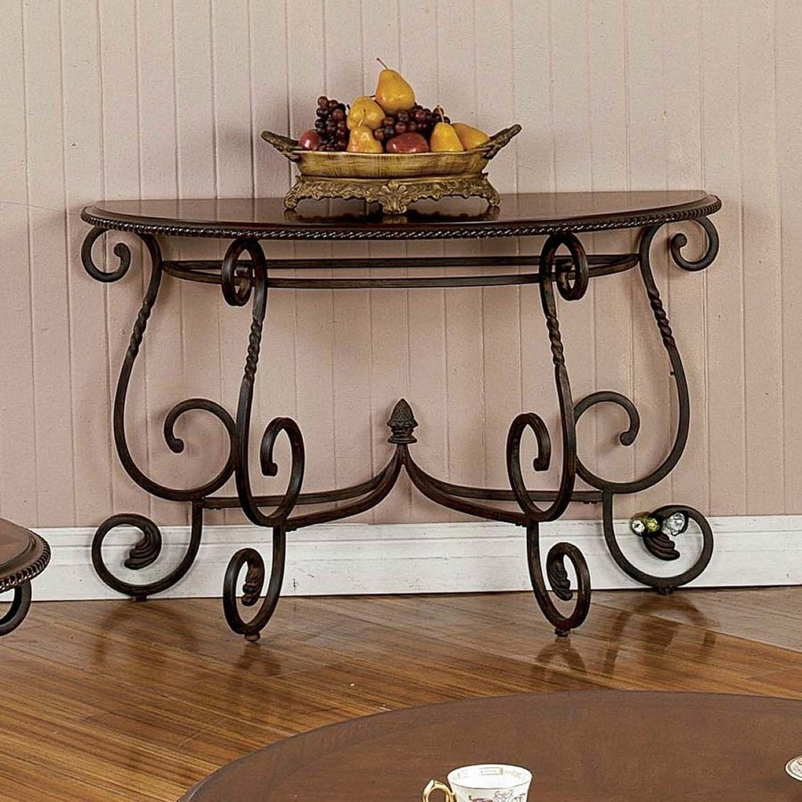 Steve Silver Company Crowley Cherry Half-Round Console and Sofa Table