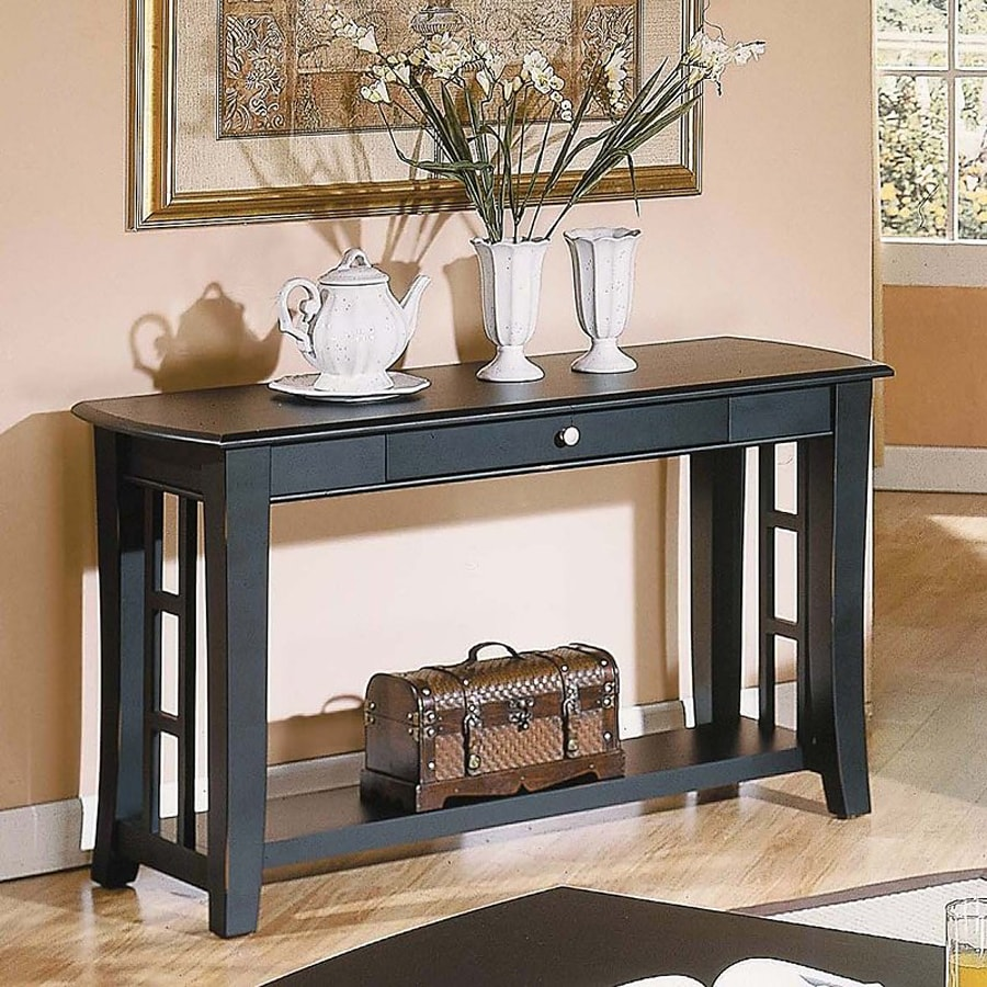 Steve Silver Company Cassidy Ebony Birch Rectangular Sofa Table