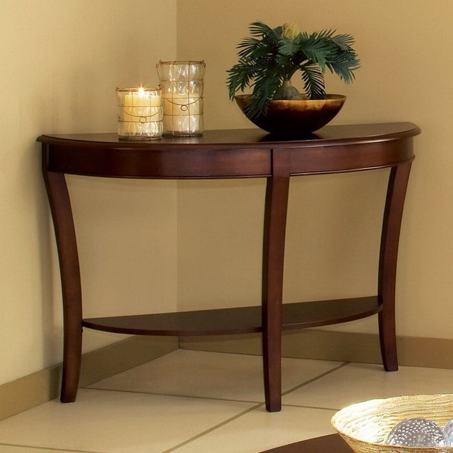 Steve Silver Company Troy Cherry Half Round Console And Sofa Table