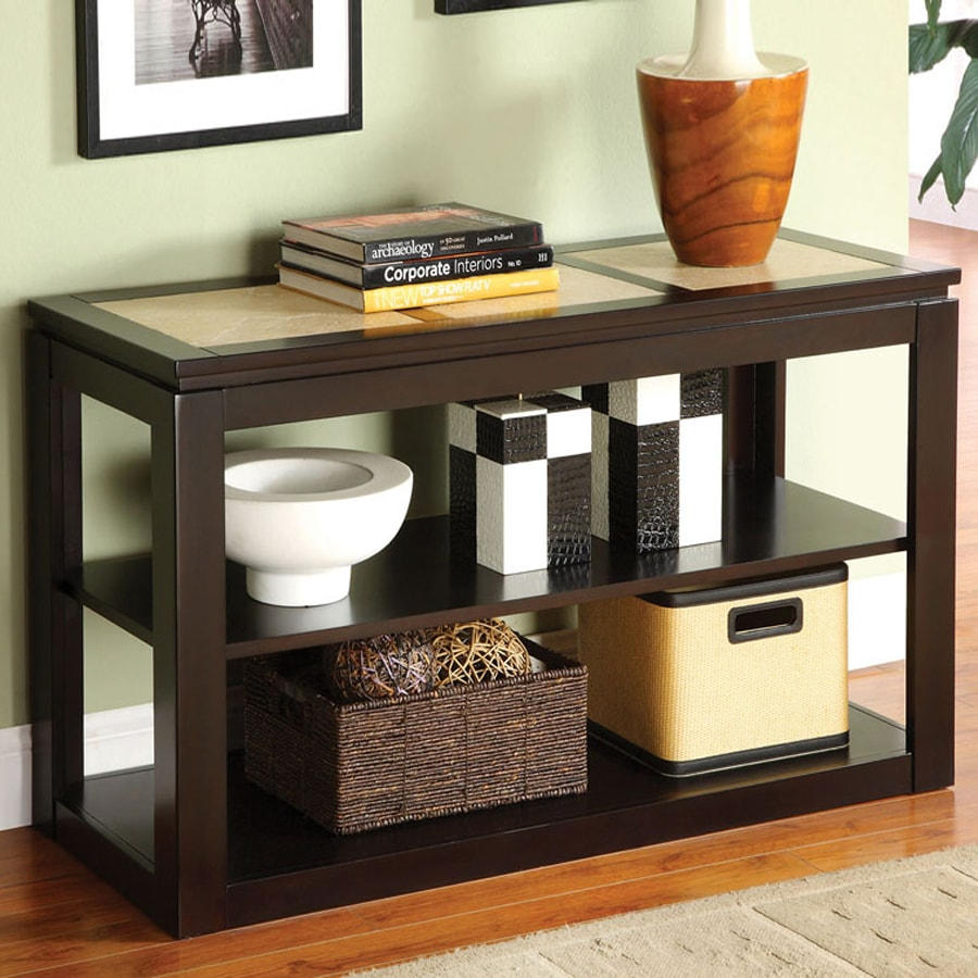Furniture of America Verona Espresso Birch Rectangular Sofa Table