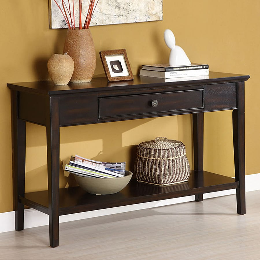 Furniture of America Middleton Dark Cherry Birch Rectangular Console and Sofa Table