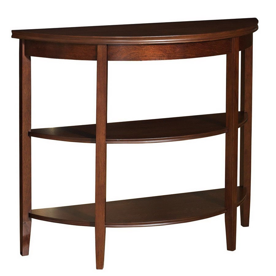 Foyer Table Lowes : Shop powell shelburne rich cherry birch half round console