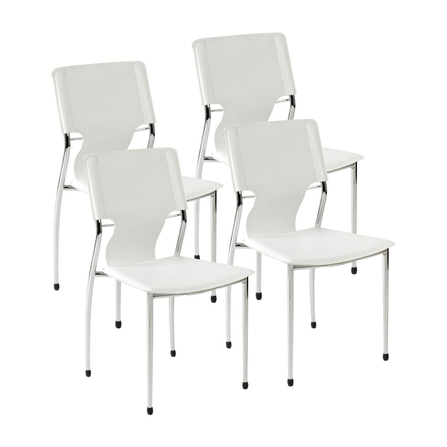Eurostyle Set of 4 Terry Chrome Side Chairs