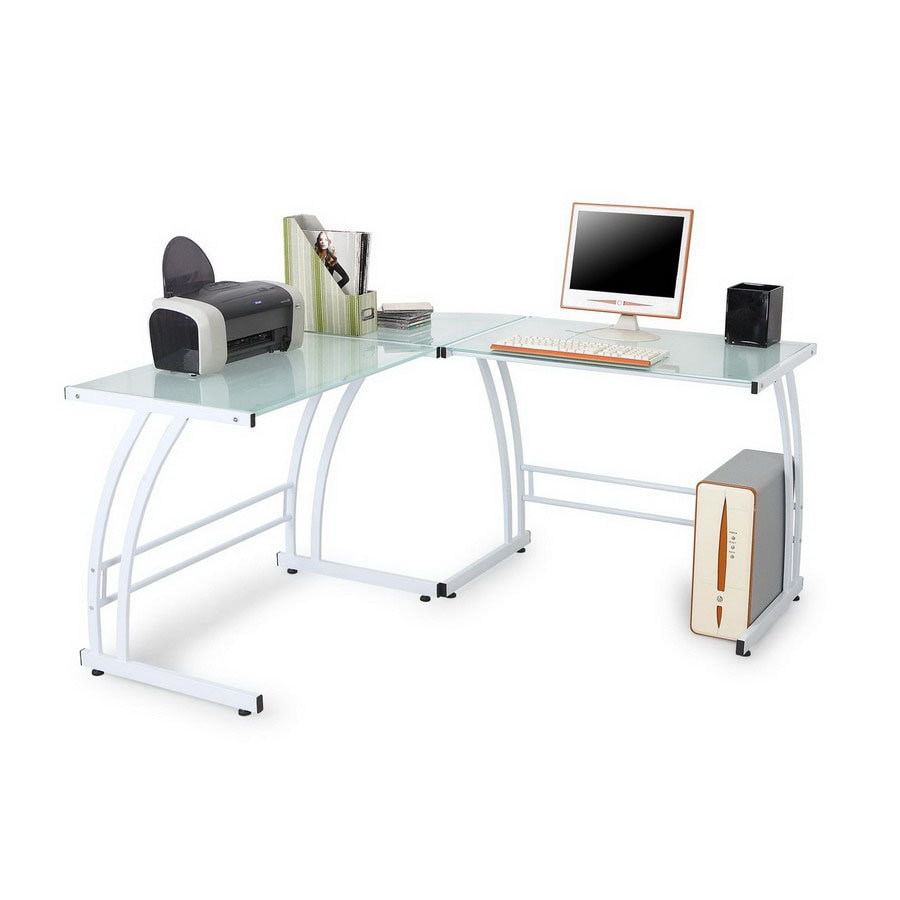 Lumisource Gamma White L-Shaped Desk