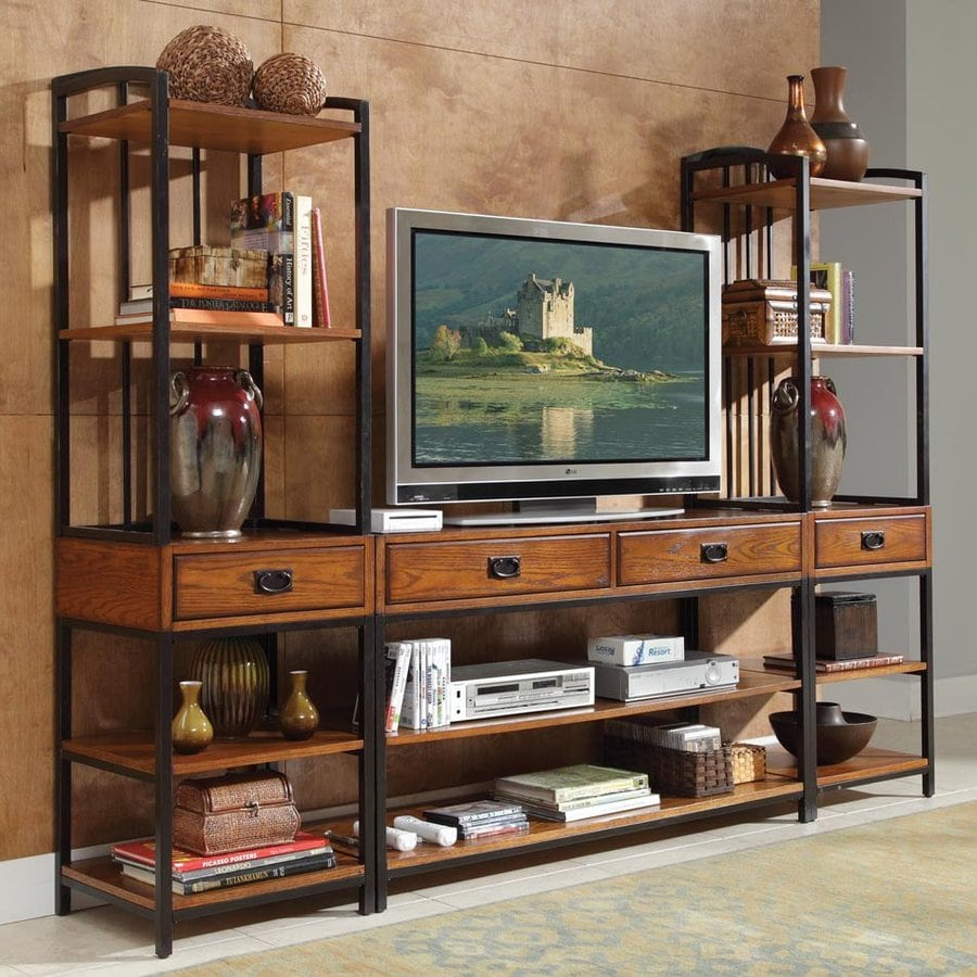 Home Styles Modern Craftsman Oak Rectangular TV Cabinet