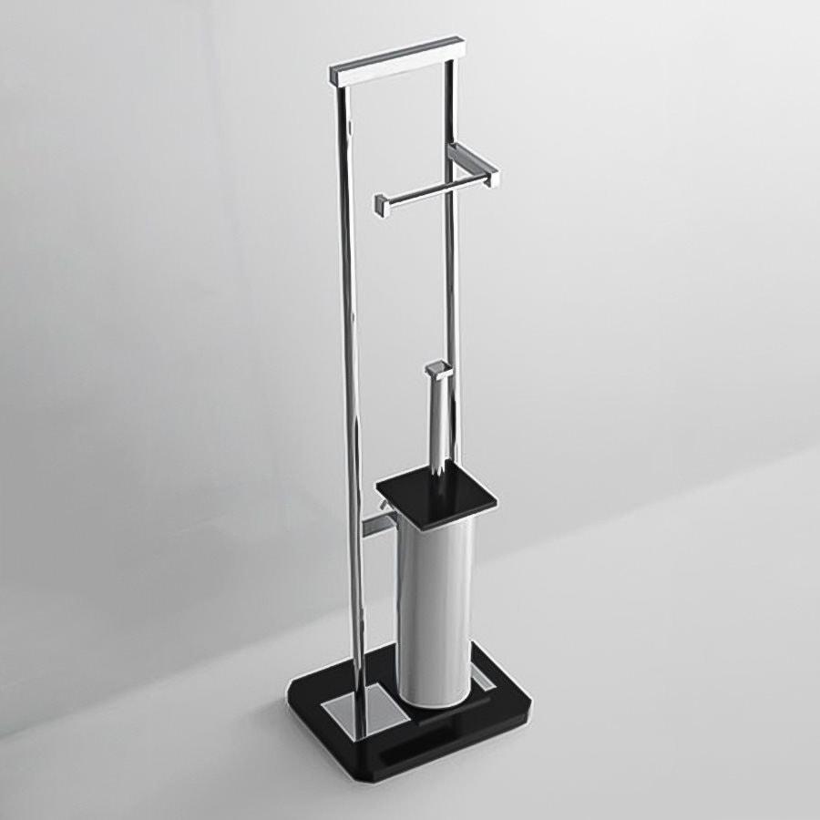 Nameeks Grip Black Brass Toilet Brush Holder
