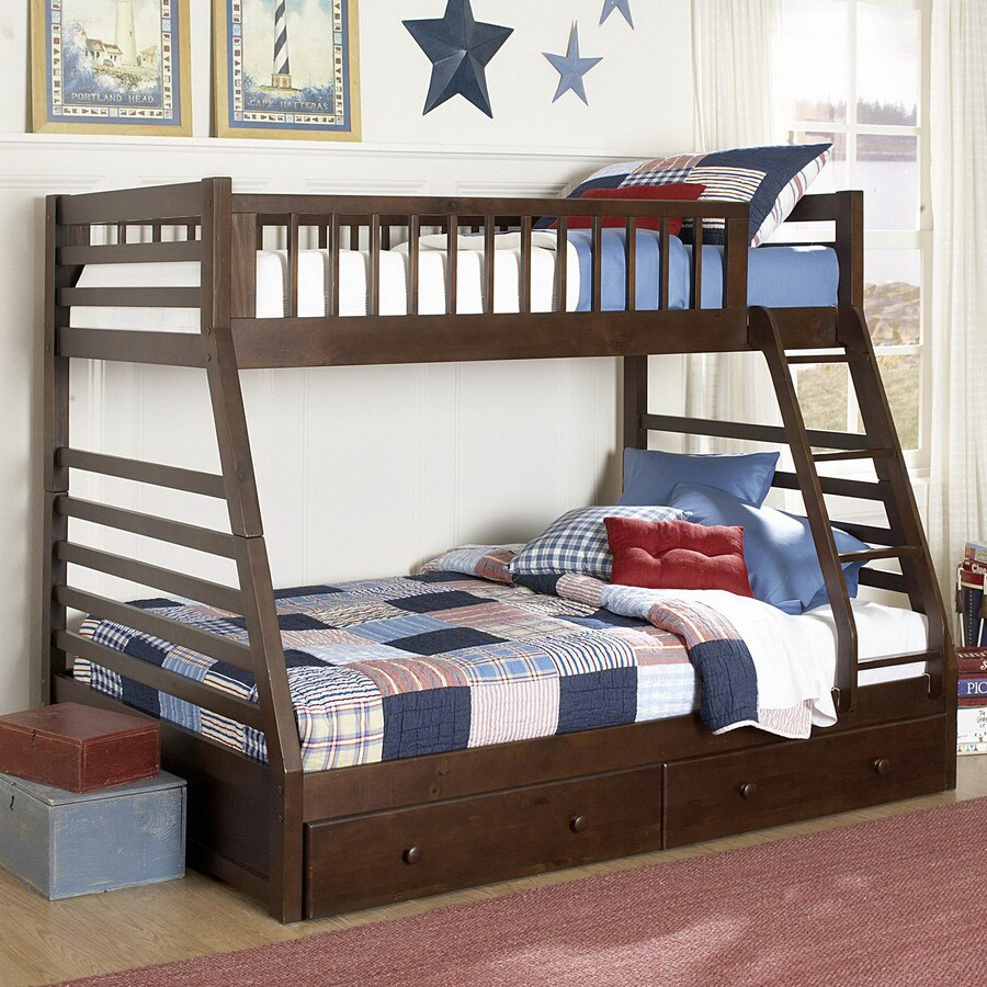 Homelegance Dreamland Cherry Twin Over Full Bunk Bed At Lowes Com