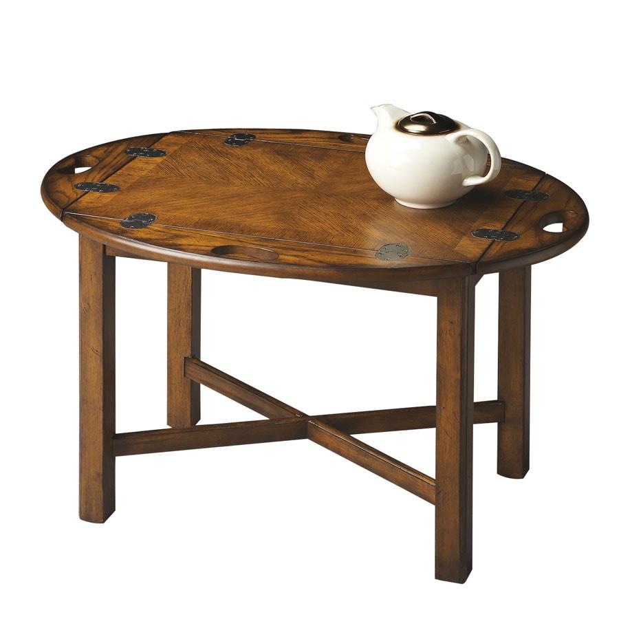 Butler Specialty Masterpiece Vintage Oak Oval Coffee Table