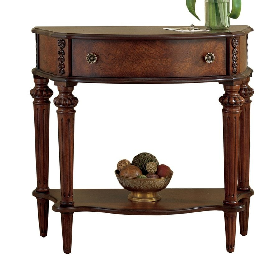 Butler Specialty Masterpiece Plantation Cherry Half Round Console And Sofa Table