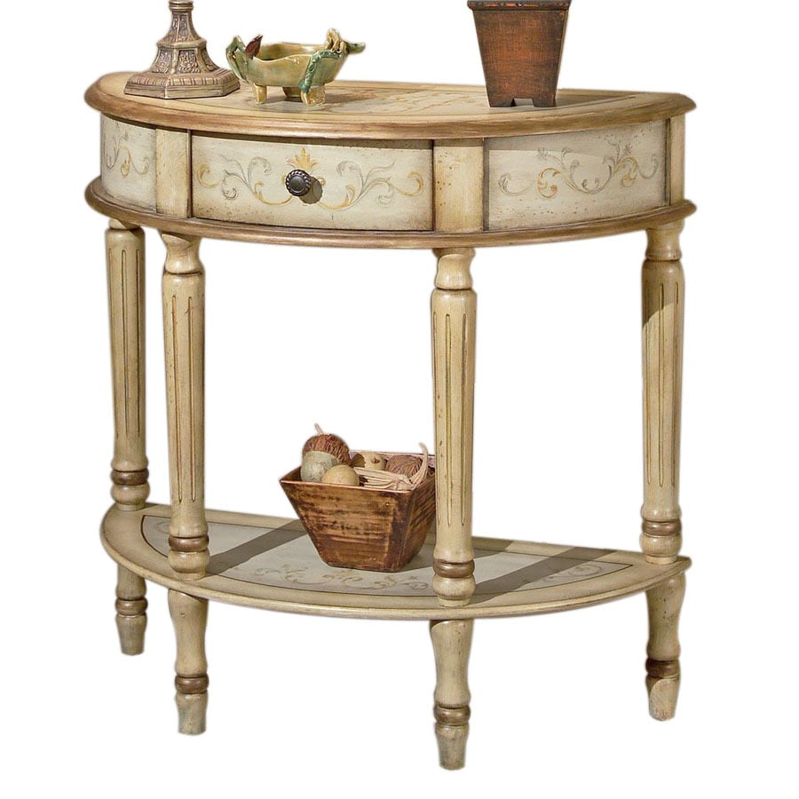 Shop butler specialty artists originals tuscan cream hand painted butler specialty artists originals tuscan cream hand painted half round console and sofa table geotapseo Images
