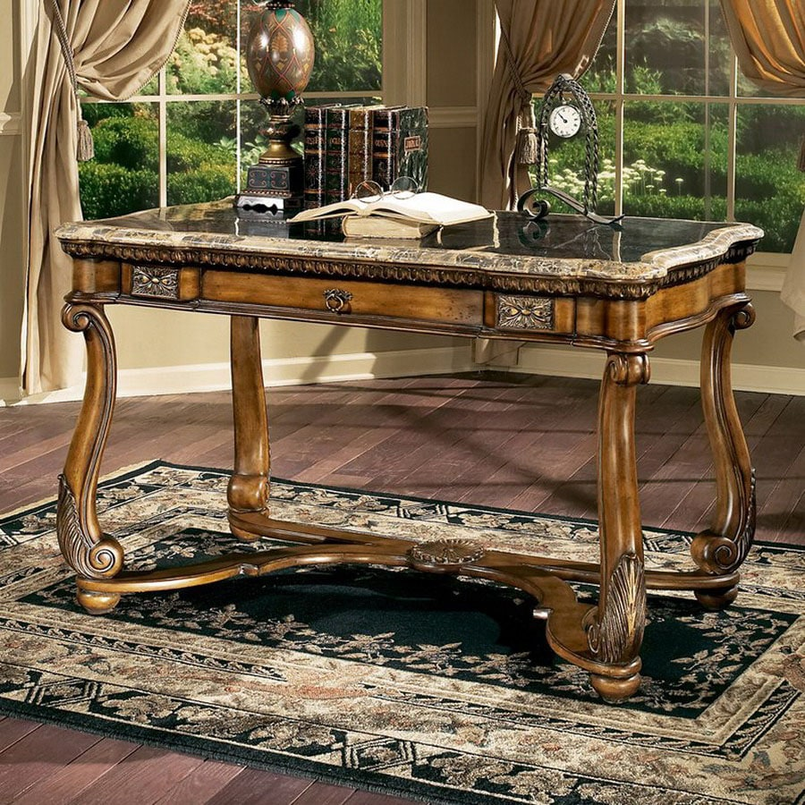 Butler Writing Desk Oak Veneer Desks For Home