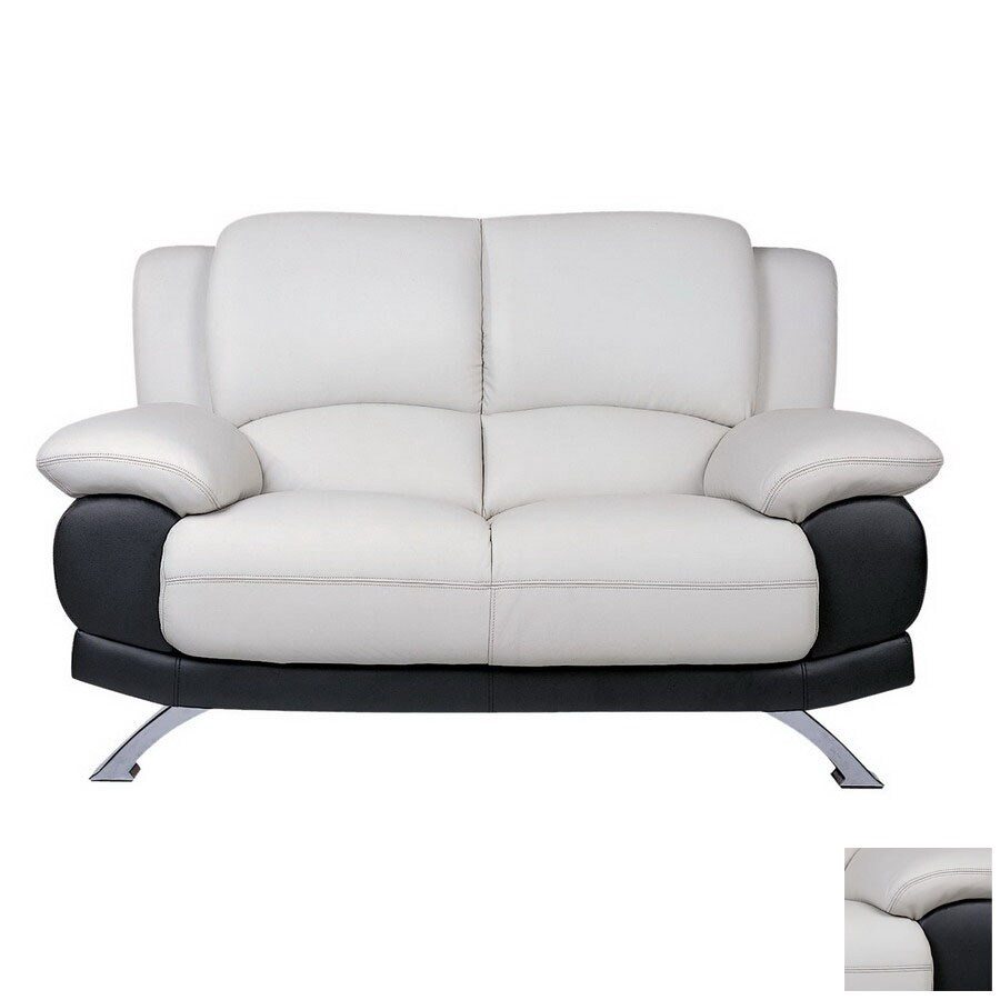 Beverly Hills Furniture Gray/Black Leather Loveseat