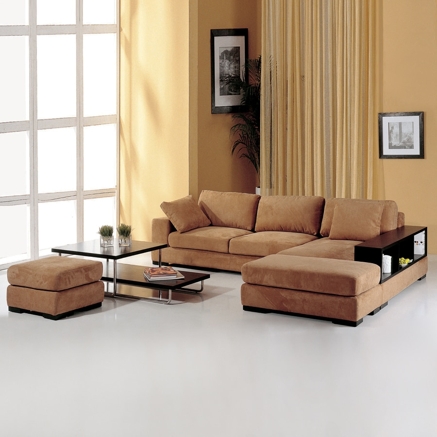 Beverly Hills Furniture Telus Sahari Brown Polyester Sectional