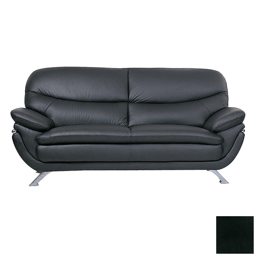 BH Design Jonus Black Leather Sofa