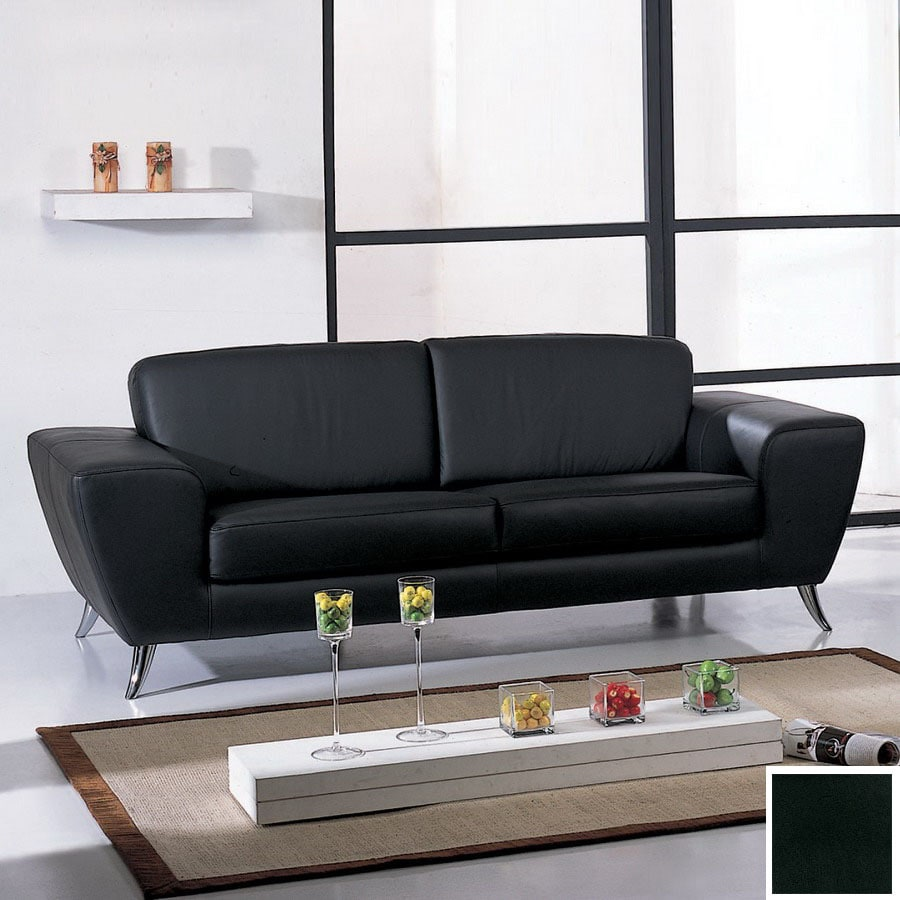 BH Design Julie Black Leather Sofa