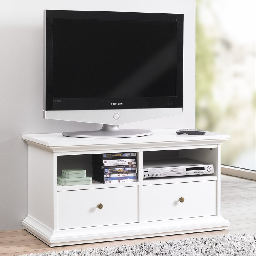 Tvilum Sonoma White Rectangular TV Cabinet
