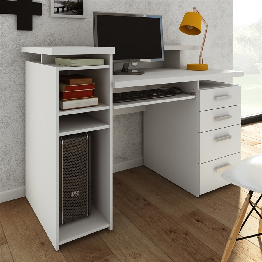 Shop Tvilum Wheaton Contemporary White Computer Desk At