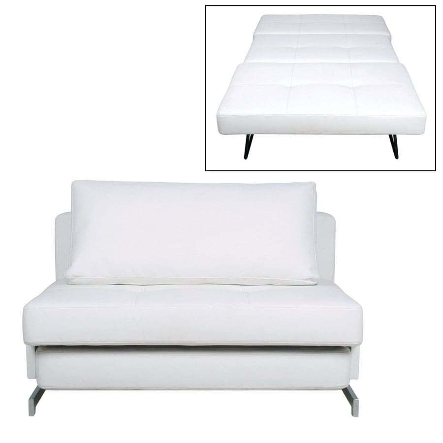 Shop new spec white polyester sofa bed at for Sofa bed 74 inches