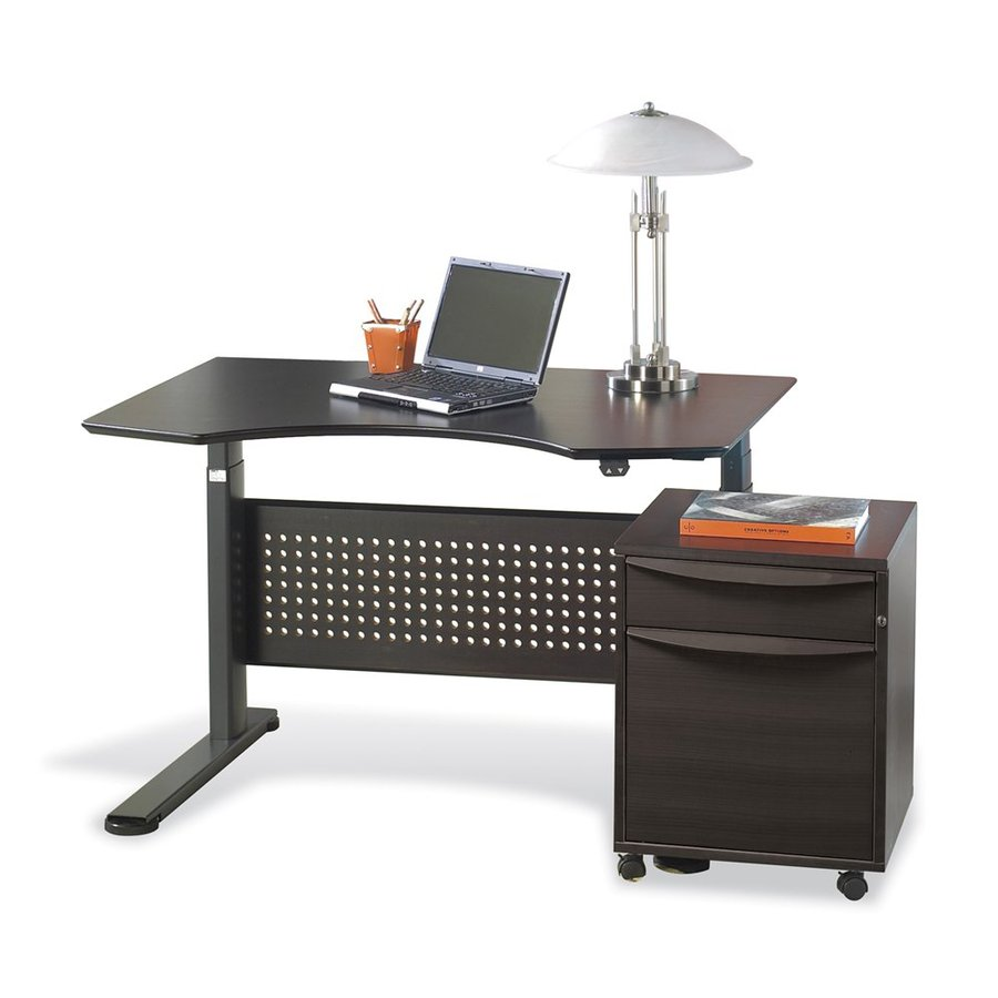shop jesper office espresso adjustable standing desk at lowes