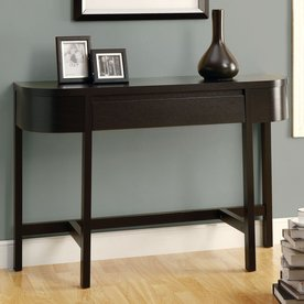Lovely Monarch Specialties Cappuccino Wood Casual Console Table