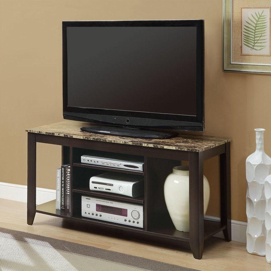 Monarch Specialties Cappuccino Rectangular Universal TV Stand