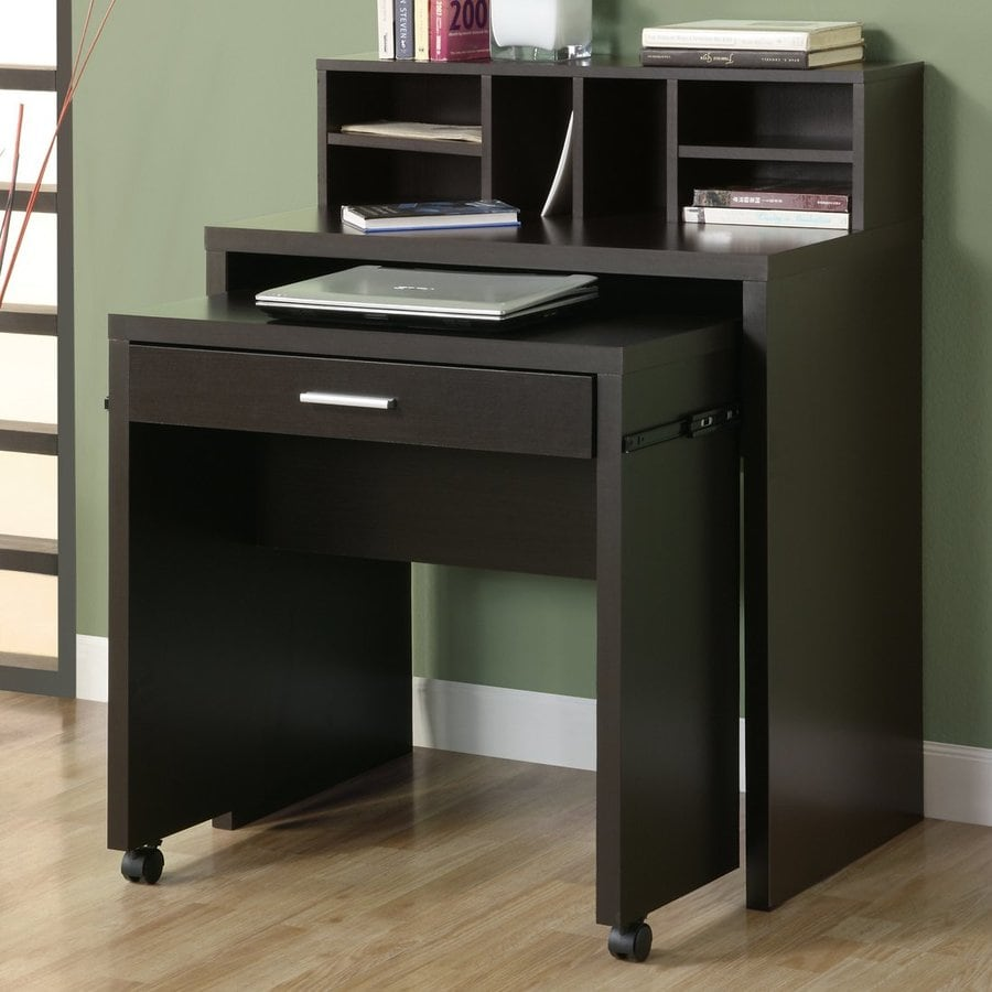 Monarch Specialties Spacesaver Cappuccino Writing Desk