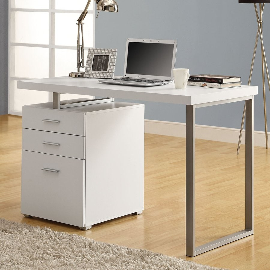 Shop Monarch Specialties Contemporary White Computer Desk at Lowescom