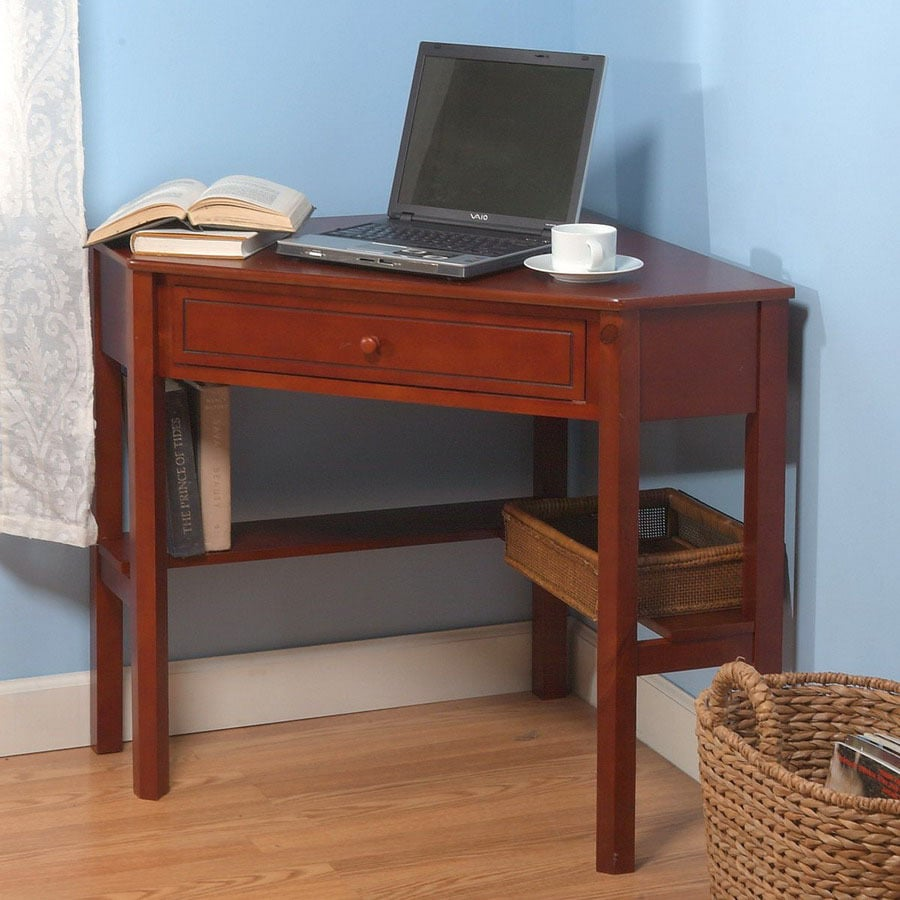 Tms Furniture Transitional Cherry Corner Desk