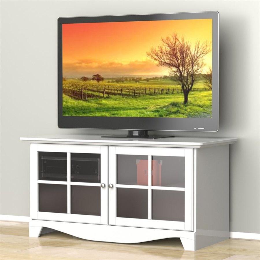 Nexera Pinnacle White Rectangular TV Cabinet