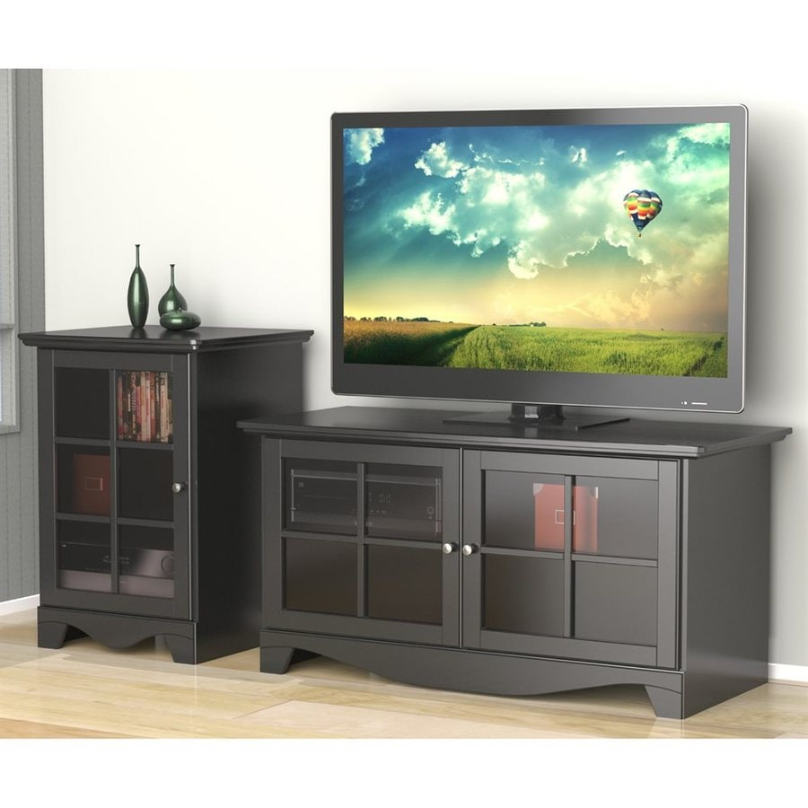 Shop Nexera Pinnacle Black Rectangular Television Cabinet ...