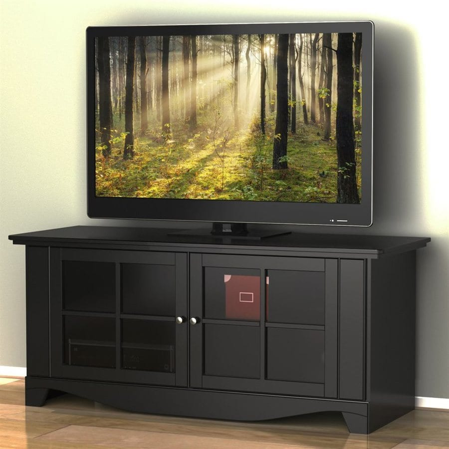 Nexera Pinnacle Black Rectangular TV Cabinet