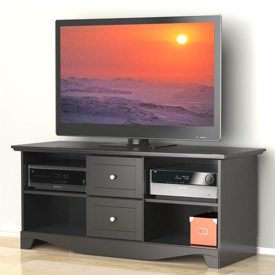 Nexera Pinnacle Black Rectangular Television Cabinet