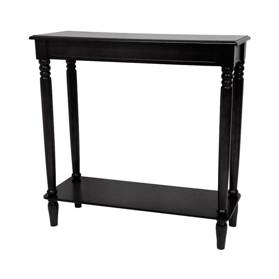 Oriental Furniture Classic Design Black Spruce Rectangular Console Table