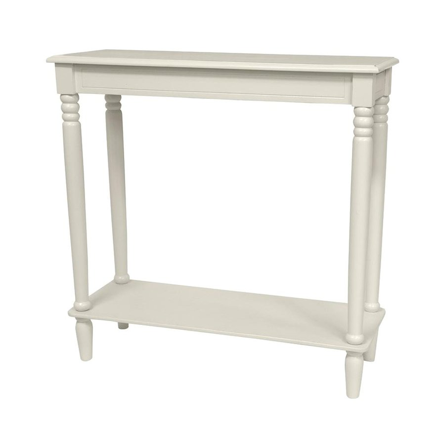 Oriental Furniture Classic Design White Spruce Rectangular Console and Sofa Table