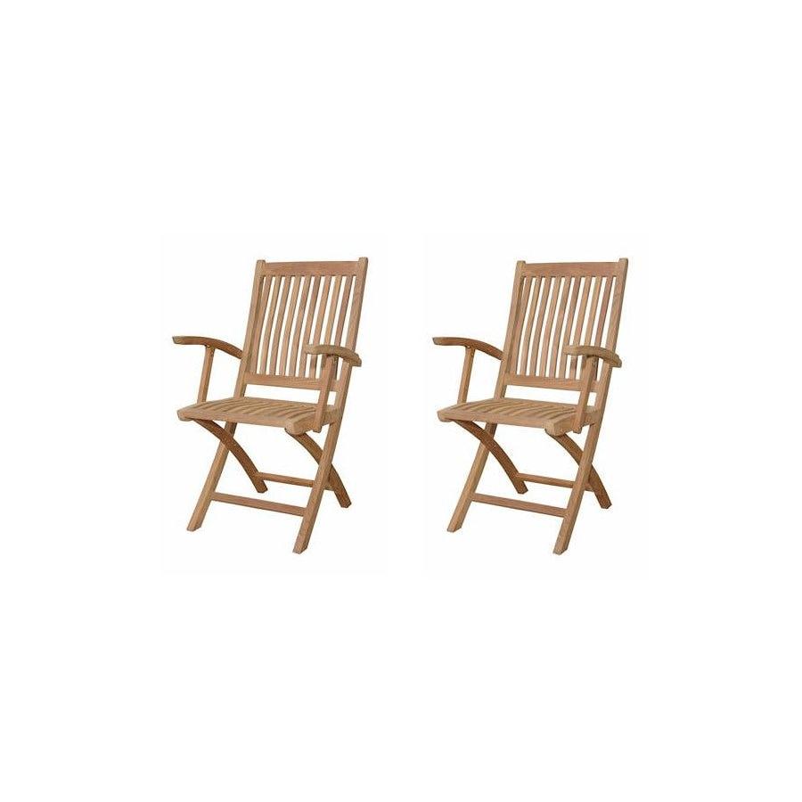 Anderson Teak Set of 2 Tropico Arm Chairs