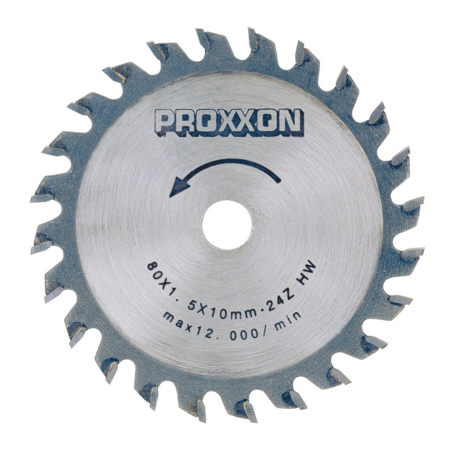 Proxxon 3-9/64-in 24-Tooth Turbo Circular Saw Blade