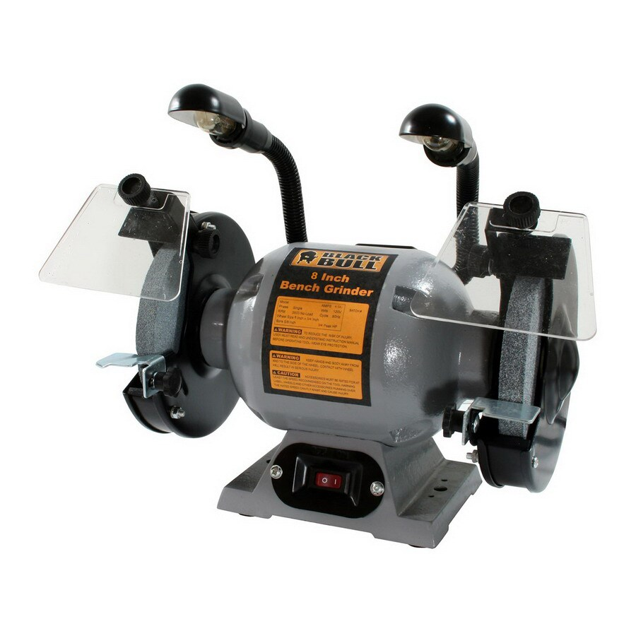 Buffalo 8 In Bench Grinder Built In Light At Lowes Com