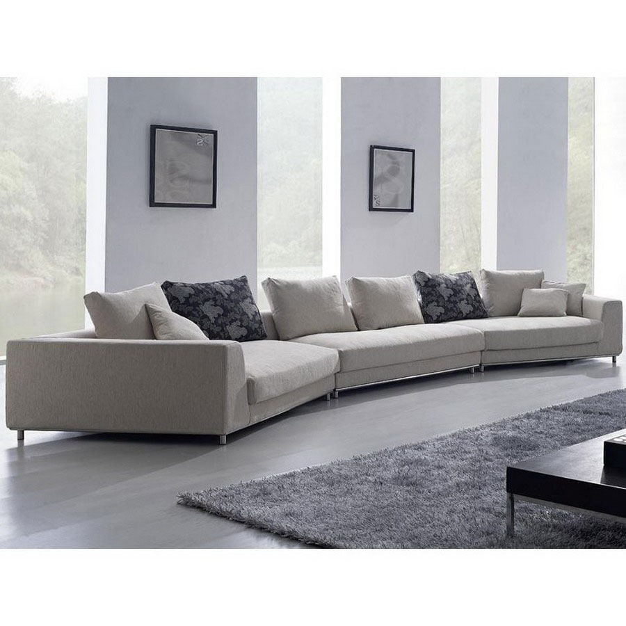 Tosh Furniture White 2 Piece Sectional Sofa