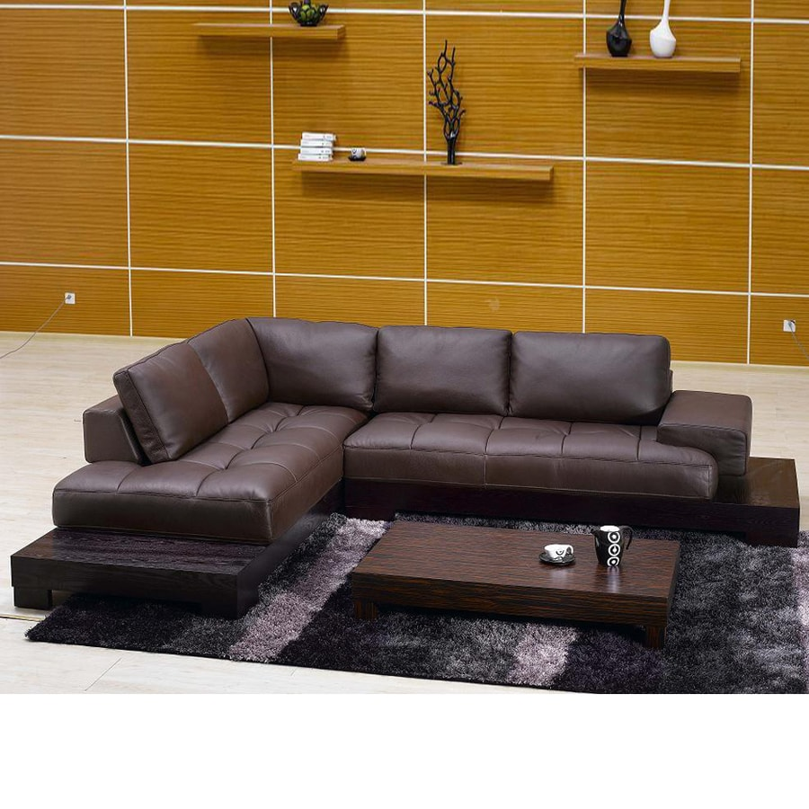 Tosh Furniture Espresso 2 Piece Sectional Sofa