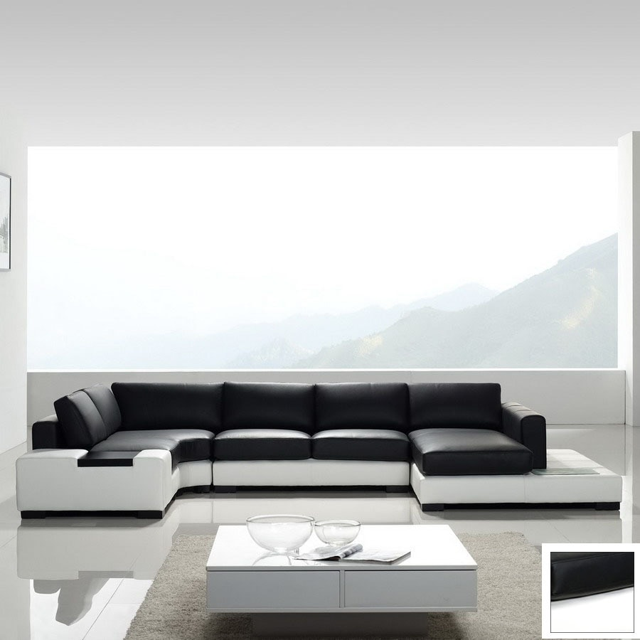 Shop TOSH Furniture Black 4 -Piece Sectional Sofa at Lowes.com