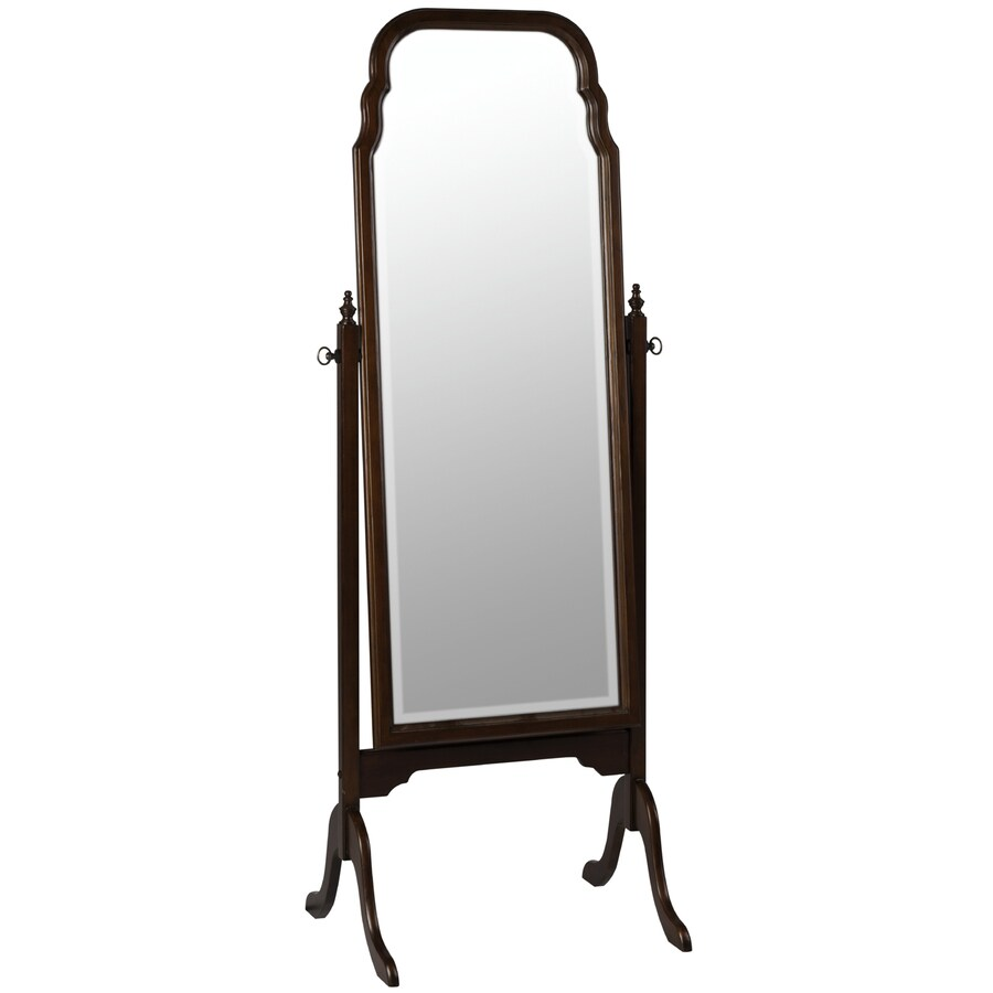 Cooper Classics Queen Anne Cheval Cherry Beveled Arch Floor Mirror