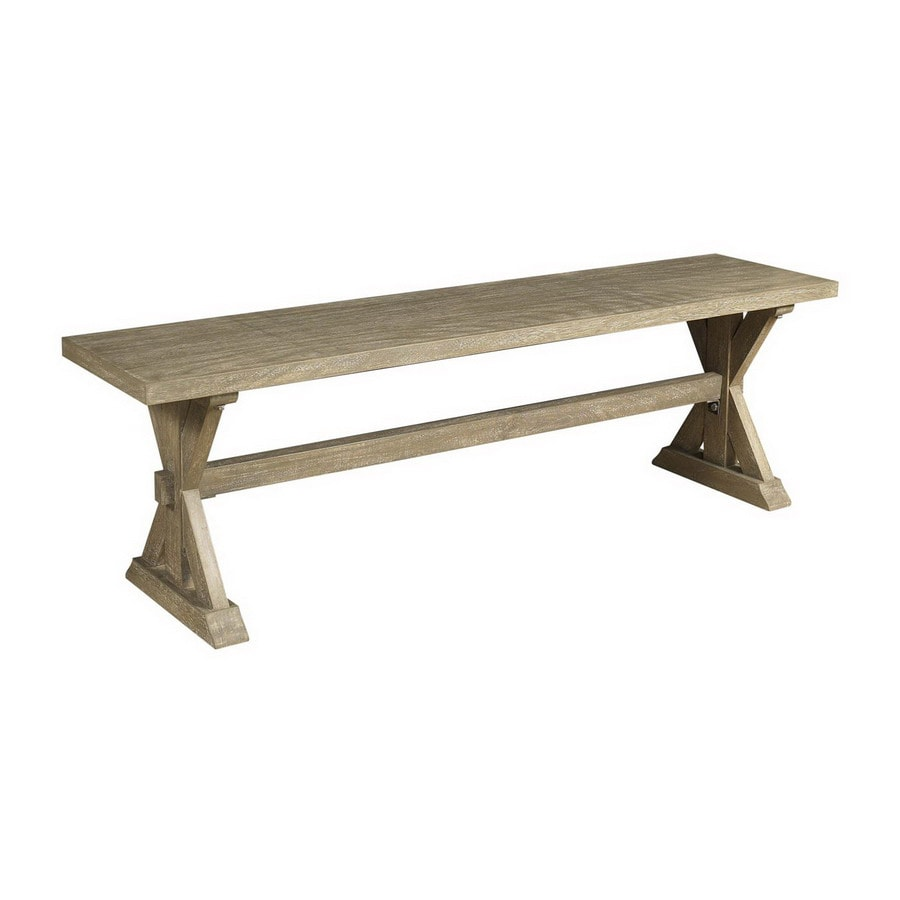 High Quality Cooper Classics Crofton White Wash 60 In Dining Bench