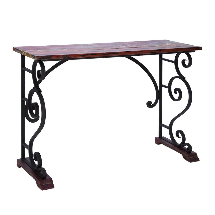 Woodland Imports Metal Rectangular Console and Sofa Table